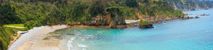 Spiaggia di Cadavedo, Asturie, Spagna Fotografia Stock Libera da Diritti