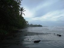Spiaggia di Cahuita - Costa Rica Fotografia Stock Libera da Diritti