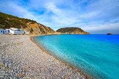 Spiaggia di Cala Barraca in Xabia Javea di Alicante Fotografia Stock Libera da Diritti