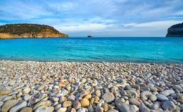 Spiaggia di Cala Barraca in Xabia Javea di Alicante Immagini Stock Libere da Diritti