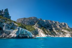 Spiaggia di Cala Goloritze, Italia immagine stock libera da diritti