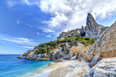 Spiaggia di Cala Goloritze, Sardegna fotografia stock