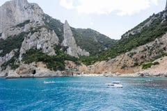 Spiaggia di Cala Goloritze sulla Sardegna, Italia Fotografie Stock Libere da Diritti
