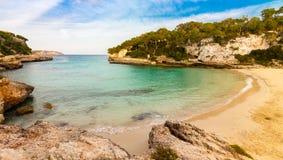 Spiaggia di Cala Llombards Immagine Stock Libera da Diritti