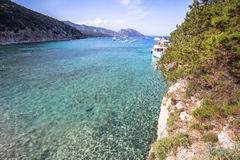 Spiaggia di Cala Luna, Sardinia, Italien Arkivbild