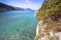 Spiaggia di Cala Luna, Sardinia, Italien Royaltyfri Fotografi