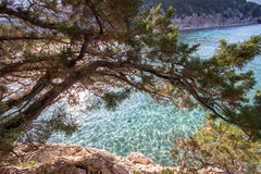 Spiaggia di Cala Luna, Sardinia, Italien Arkivbilder