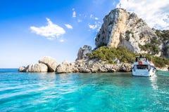 Spiaggia di Cala Luna, Sardinia, Italien Royaltyfri Bild