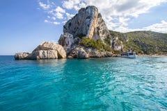 Spiaggia di Cala Luna, Sardinia, Italien Arkivfoto