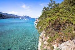 Spiaggia di Cala Luna, Sardinia, Italien Royaltyfria Bilder