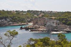 Spiaggia di Cala S Almunia in Maiorca Immagini Stock Libere da Diritti