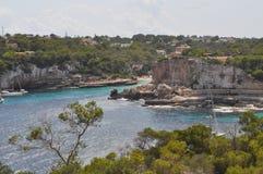 Spiaggia di Cala S Almunia in Maiorca Fotografie Stock
