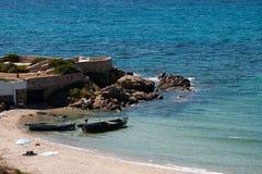 Spiaggia di Cala Serena Immagine Stock