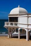 Spiaggia di Caleta a Cadice, sud della Spagna fotografia stock libera da diritti
