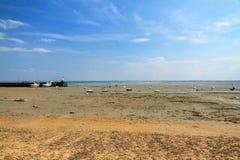 Spiaggia di Cancale di bassa marea Immagini Stock Libere da Diritti