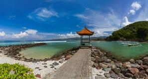 Spiaggia di Candidasa - isola Indonesia di Bali immagini stock
