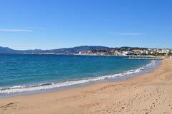 Spiaggia di Cannes Fotografie Stock