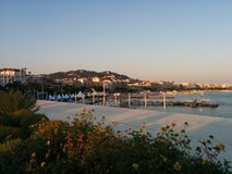 Spiaggia di Cannes Immagini Stock