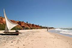 Spiaggia di Canoa Quebrada, Brasile Fotografia Stock Libera da Diritti