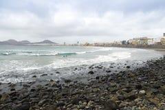 Spiaggia di Canteras Fotografia Stock