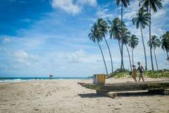 Spiaggia di Carneiros, ½ del ¿ di Tamandarï - Pernambuco Fotografie Stock