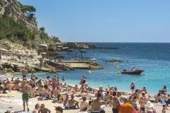Spiaggia di Cassis Fotografia Stock Libera da Diritti
