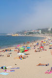 Spiaggia di Caxias in Caxias, Portogallo Fotografia Stock