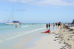 Spiaggia di Cayo Guillermo, Cuba Immagini Stock