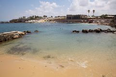 Spiaggia di Cesarea Fotografia Stock