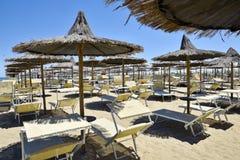 Spiaggia di Cesenatico in Italia royalty free stock photos