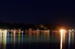 Spiaggia di Chaweng alla notte 02 Fotografia Stock Libera da Diritti