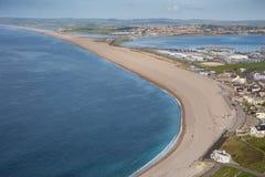 Spiaggia di Chesil Fotografie Stock