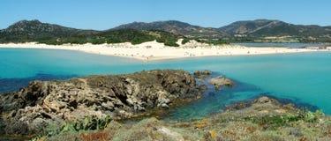 Spiaggia di Chia Fotografia Stock Libera da Diritti