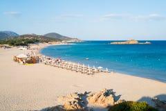 Spiaggia di Chia Immagini Stock Libere da Diritti