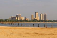Spiaggia di Chicago Fotografia Stock Libera da Diritti
