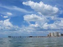Spiaggia di Clearwater, Florida, U.S.A. un giorno di estate Fotografia Stock Libera da Diritti