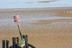 Spiaggia di Cleethorpes Fotografie Stock