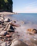 Spiaggia di Clovelly Immagini Stock