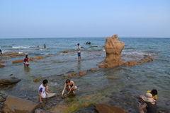 Spiaggia di Co Thach, Vietnam Fotografie Stock Libere da Diritti