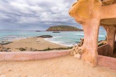 Spiaggia di Conta in Ibiza Immagine Stock Libera da Diritti