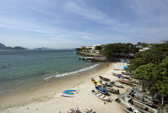 Spiaggia di Copacabana Fotografia Stock