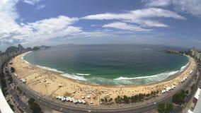 Spiaggia di Copacabana di vista di Fisheye di panorama Fotografia Stock