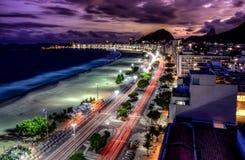 Spiaggia di Copacabana, Rio immagini stock