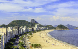 Spiaggia di Copacabana in Rio de Janeiro Fotografia Stock Libera da Diritti
