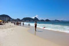 Spiaggia di Copacabana - Rio de Janeiro Fotografie Stock