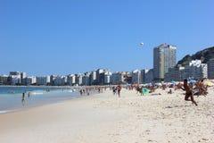 Spiaggia di Copacabana - Rio de Janeiro Fotografia Stock