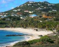Spiaggia di Coralita, st Martin Immagine Stock