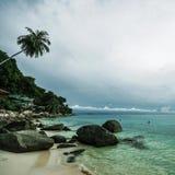 Spiaggia di corallo della baia Fotografia Stock