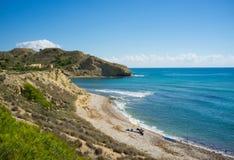 Spiaggia di Costa Blanca Fotografia Stock