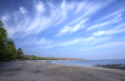 Spiaggia di Costa Rica Fotografie Stock Libere da Diritti